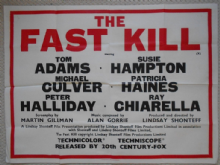 Fast Kill, Original UK Quad Poster, Tom Adams, Graham Ashley, '72